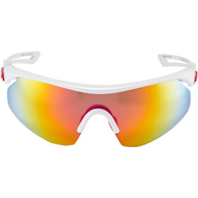 Alpina Nylos Shield Okulary rowerowe, white-red